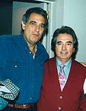 With Plácido Domingo, several years younger